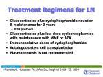 treatment regimens for ln