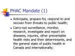 phac mandate 1