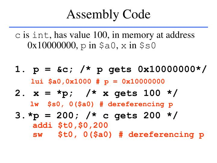 Assembly Code