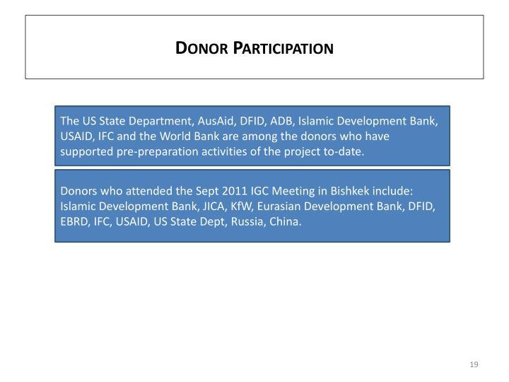 Donor Participation