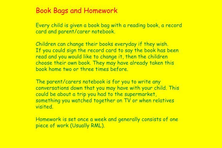 Book Bags and Homework