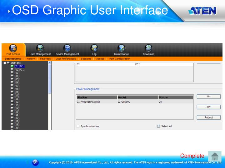 OSD Graphic User Interface