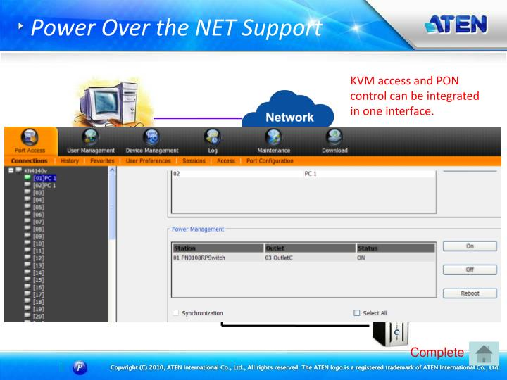 Power Over the NET Support