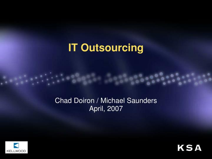it outsourcing n.