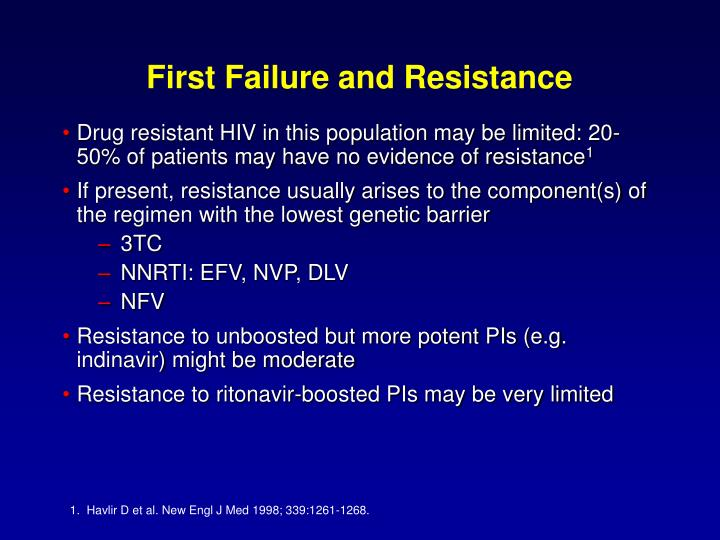 First Failure and Resistance
