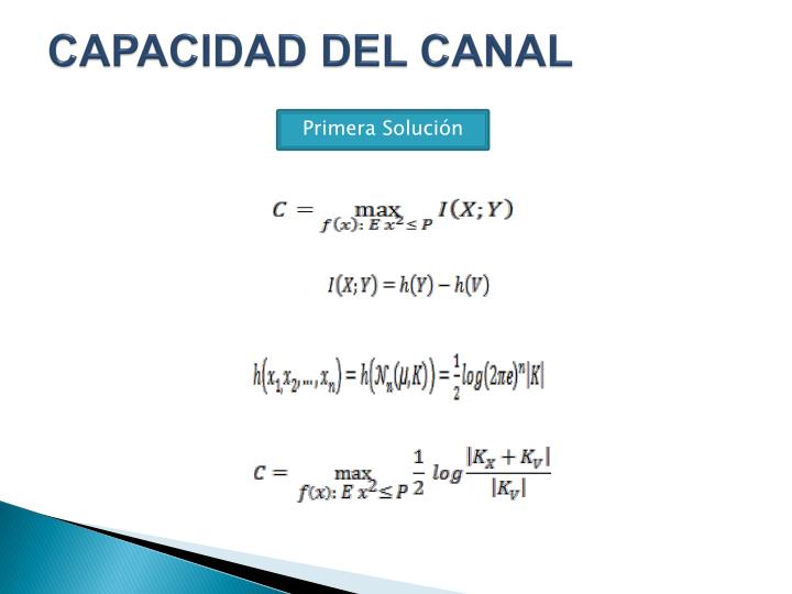 CAPACIDAD DEL CANAL