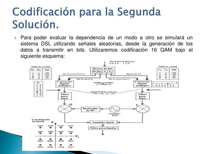 Codificación para la Segunda Solución.