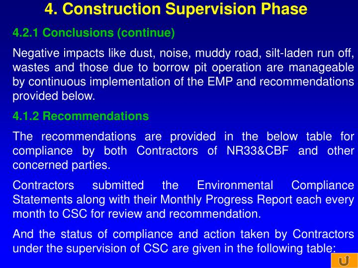 4. Construction Supervision Phase
