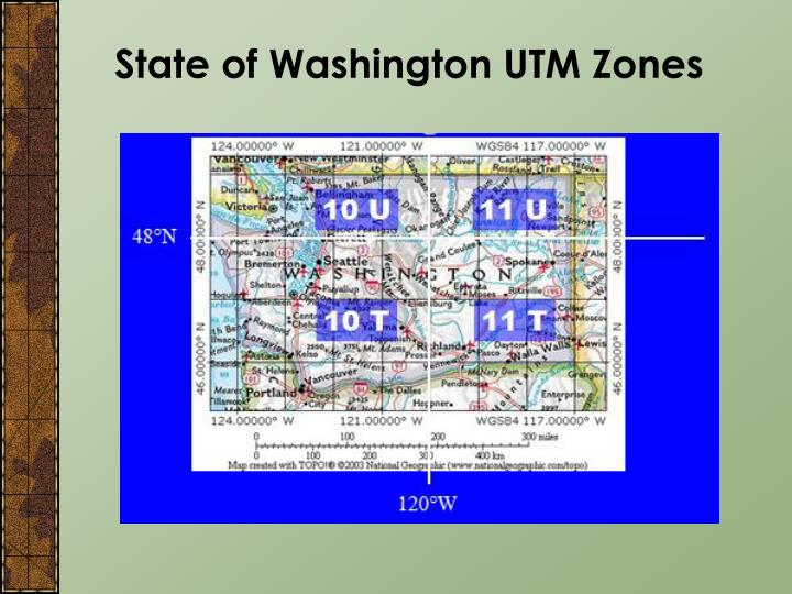 State of Washington UTM Zones