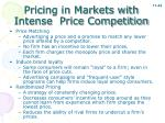 pricing in markets with intense price competition