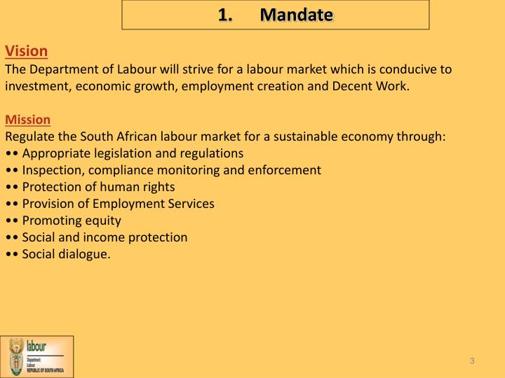 1 mandate