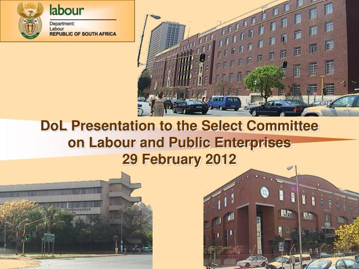 DoL Presentation to the Select Committee on Labour and Public Enterprises