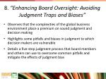 8 enhancing board oversight avoiding judgment traps and biases