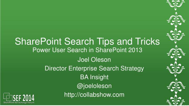 sharepoint search tips and tricks power user search in sharepoint 2013 n.