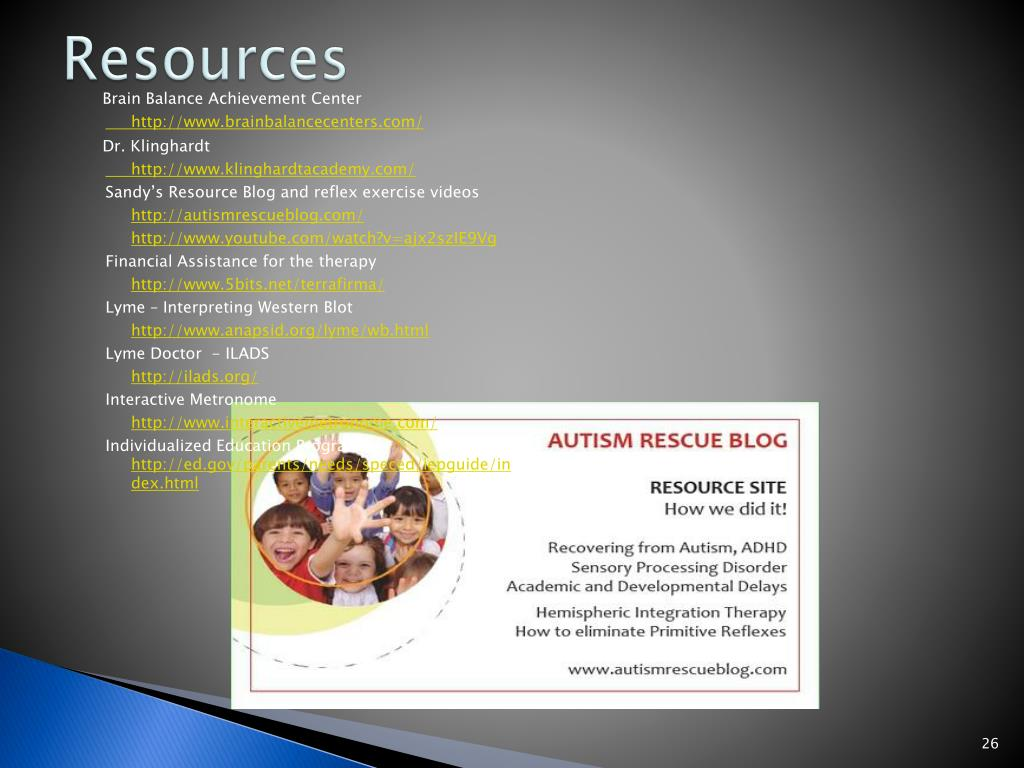 PPT - Autism, Lyme and Fibromyalgia PowerPoint Presentation