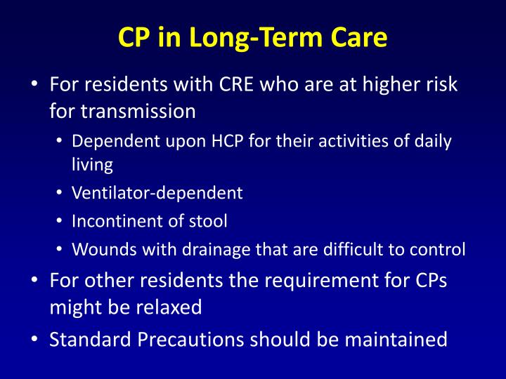 CP in Long-Term Care