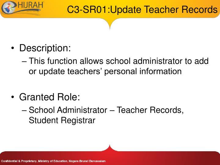 C3 sr01 update teacher records