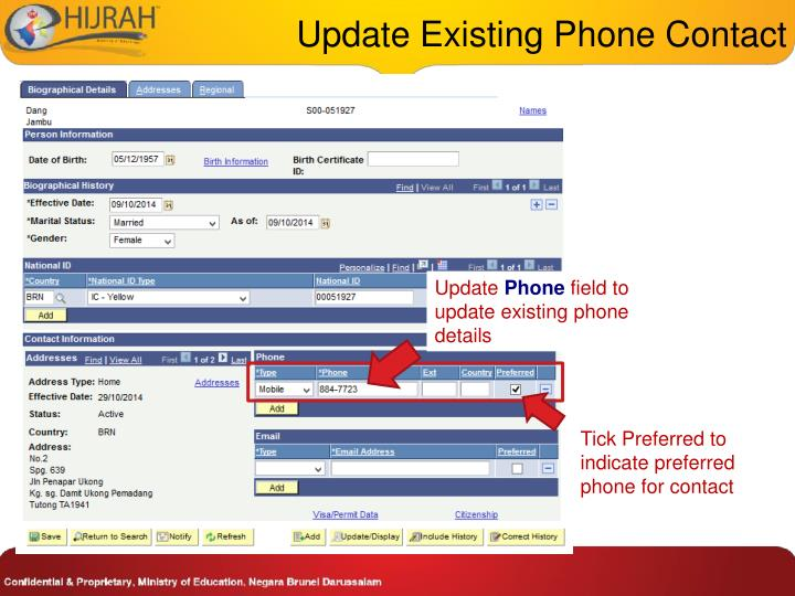 Update Existing