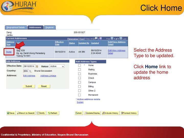 Click Home