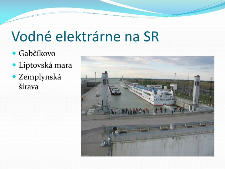 Vodné elektrárne na SR