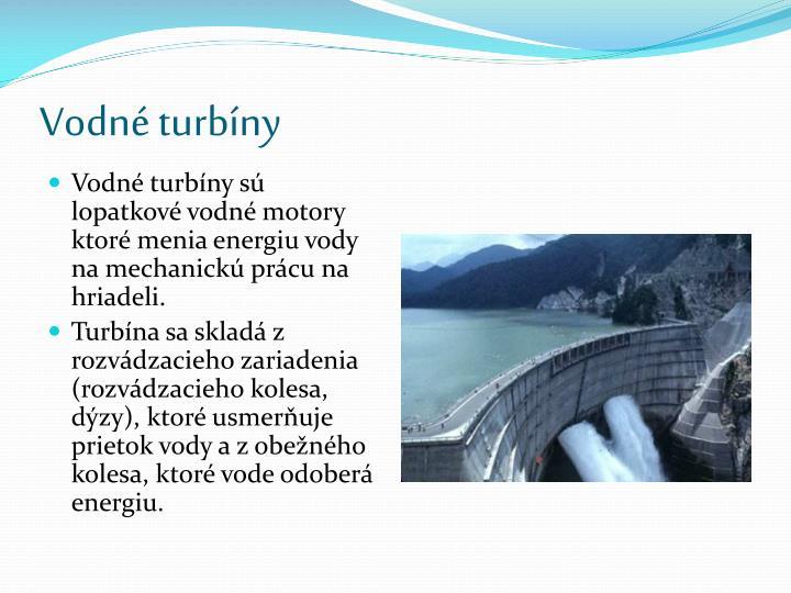 Vodné turbíny