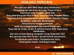 doa aku percaya
