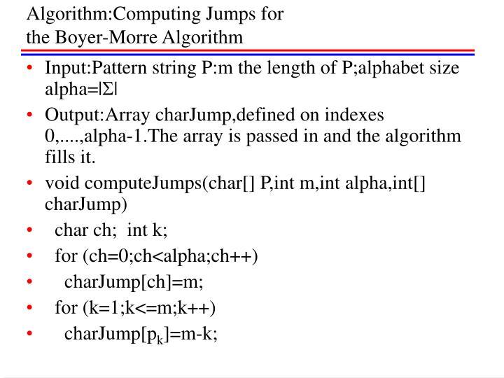 Algorithm:Computing Jumps for