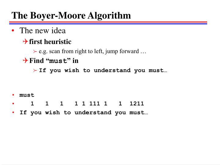 The Boyer-Moore Algorithm