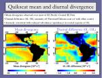 quikscat mean and diurnal divergence