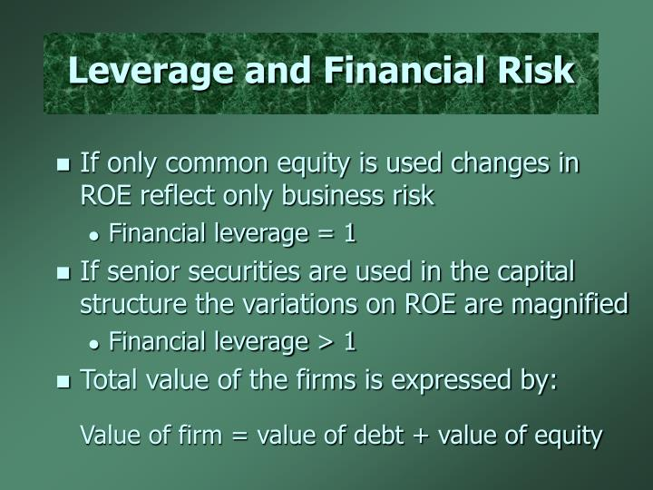 Leverage and Financial Risk