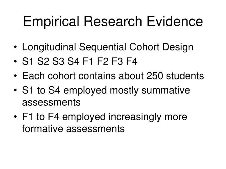 Empirical Research Evidence