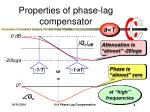 properties of phase l ag compensator