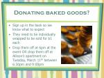 donating baked goods