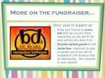 more on the fundraiser