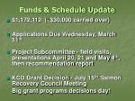 funds schedule update