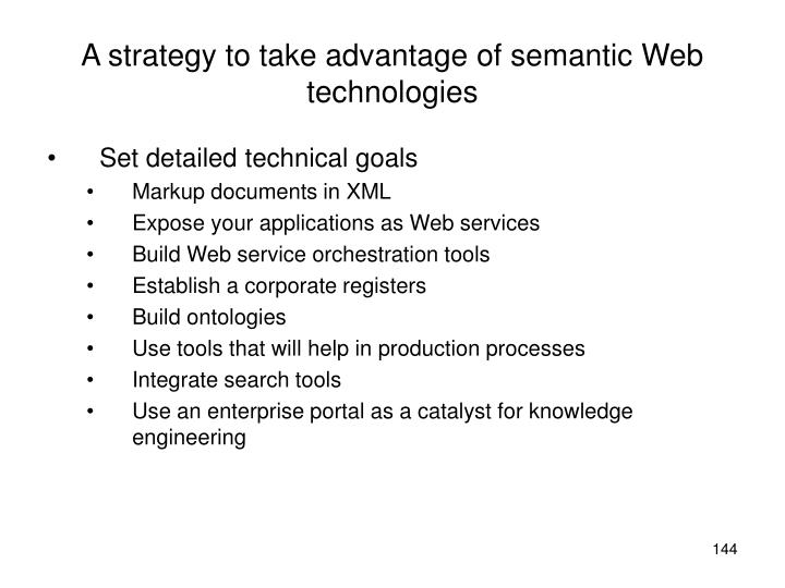 A strategy to take advantage of semantic Web technologies