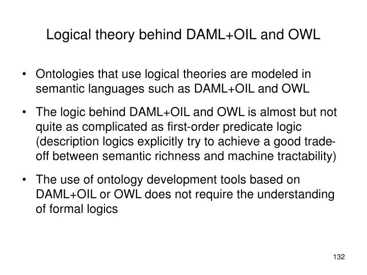 Logical theory behind DAML+OIL and OWL