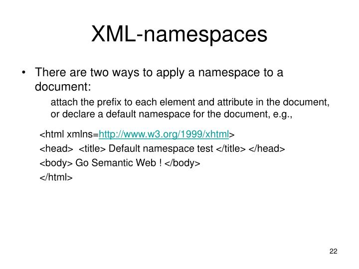 XML-namespaces