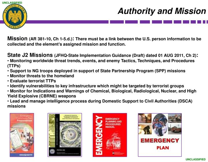 Authority and Mission