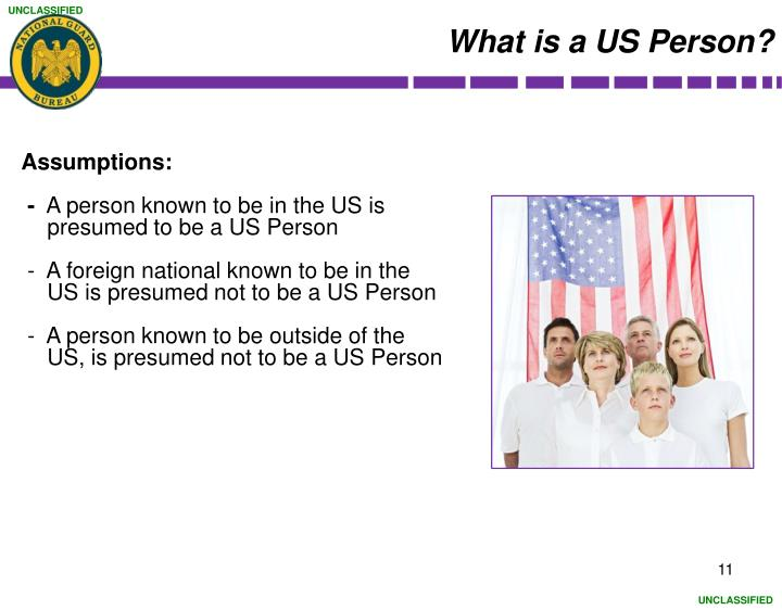 What is a US Person?