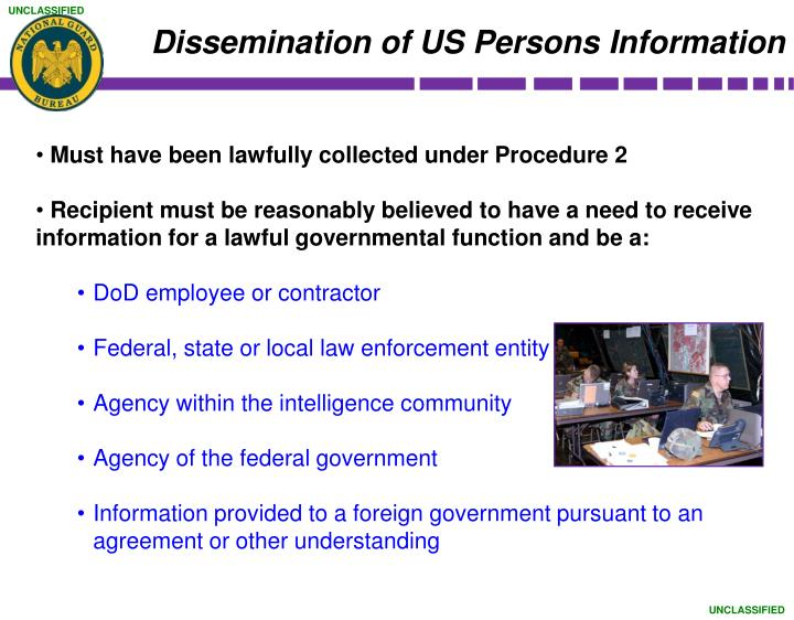 Dissemination of US Persons Information