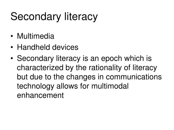 Secondary literacy