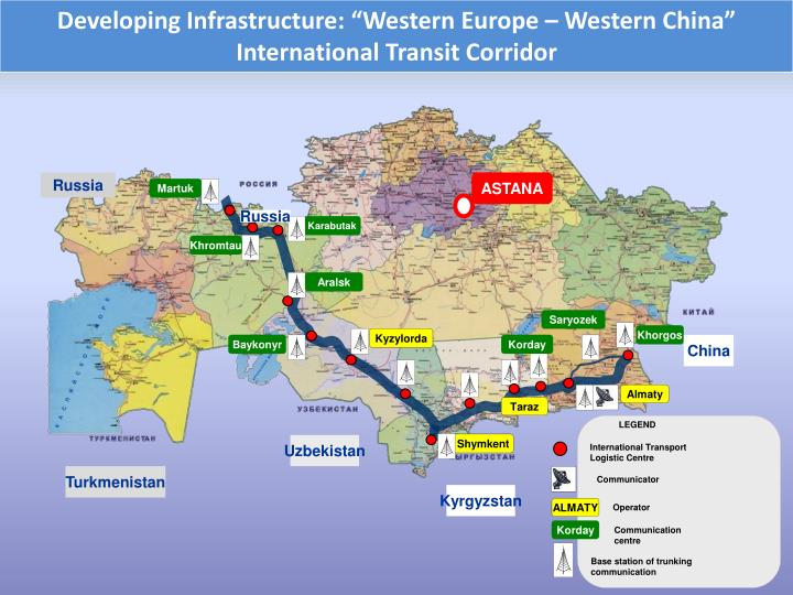 """Developing Infrastructure: """"Western Europe – Western China"""""""