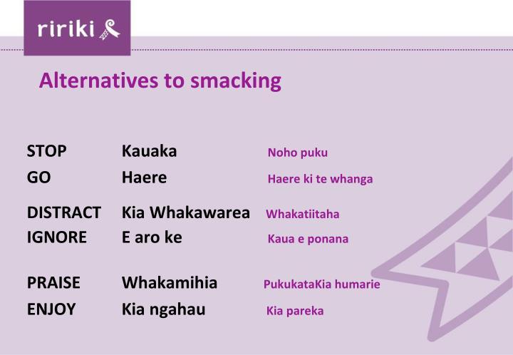 Alternatives to smacking
