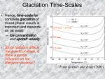 glaciation time scales