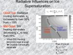 radiative influences on ice supersaturation