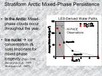 stratiform arctic mixed phase persistence