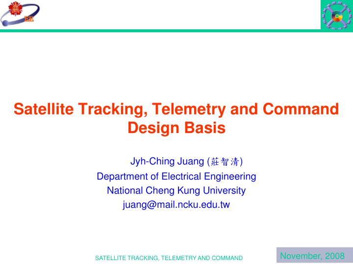 satellite tracking telemetry and command design basis n.