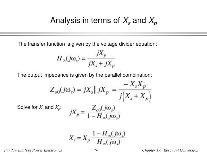 Analysis in terms of