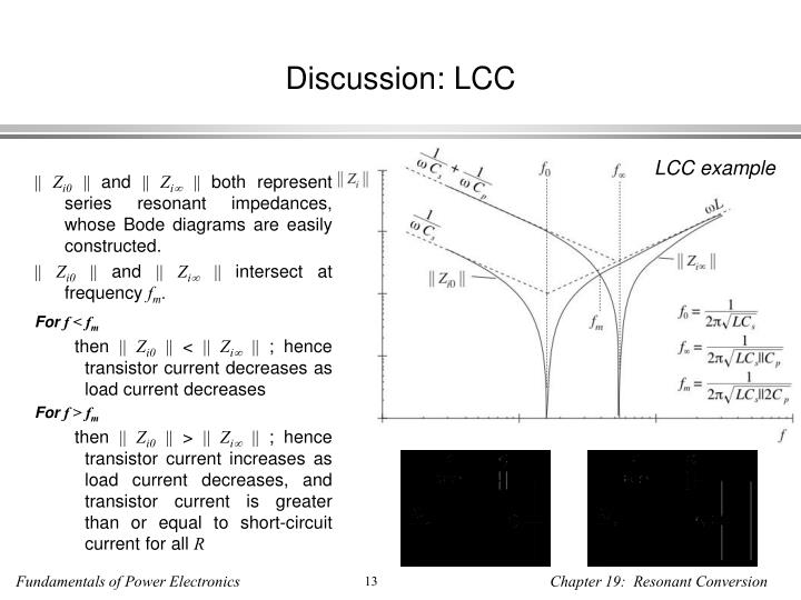 Discussion: LCC